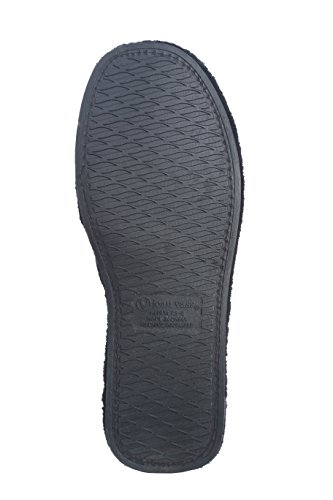 Joan Vass Ladies Terry Spa Pantofola Regolabile Slide Open Toe Nero