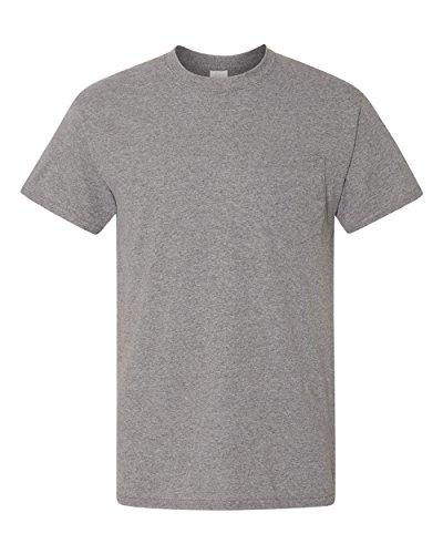 GD 5.6 OZ 50/50 TEE W/PKT (Pocket T-shirt Chest Gildan)