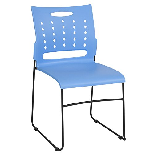 Flash Furniture HERCULES Series 881 lb. Capacity Blue Sled Base Stack Chair with Air-Vent Back by Flash Furniture