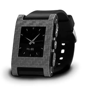 Slickwraps Carbon Fiber for Pebble Watch - Retail Packaging - Gun Carbon Fiber