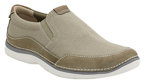 Clarks Mens Ripton Free Olive Canvas