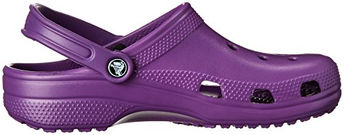 Crocs Classic Clog|Comfortable Slip On Casual Water Shoe, Amethyst, 5 M US Men/7 M US Women