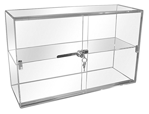Showcase Acrylic Small Countertop Display Security Case 21'' W x 7''D x 13''H NEW by Unknown