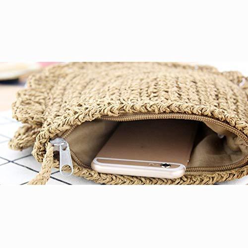 Donalworld Women Beach Bag Round Straw Crochet Shoulder Summer Bag Purse S Shlcf by Donalworld (Image #9)