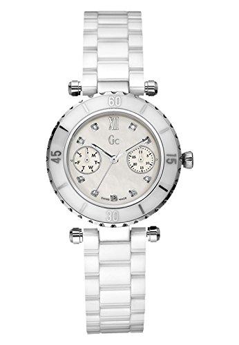 GUESS GC Diver Chic Diamond White Ceramic Ladies Watch G46003L1