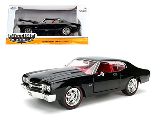 Jada 1970 Chevrolet Chevelle SS Black 1/24 Diecast Model Car ()