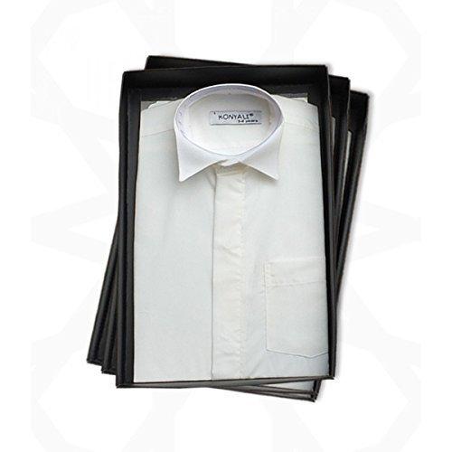 SIRRI Pageboys Elfenbein Flügel Kragen Hemd