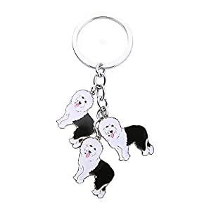 BBEART Dog Keychain, Pet Pendant Key-Ring, Cute Puppy ID Tags Metal Key Ring for Dog Lover 2