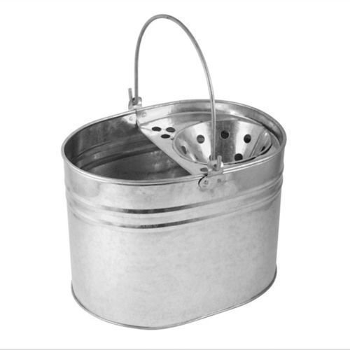 BS Heavy Duty metal mop secchio zincato forte capacità di 16litri per pulizia New PRM