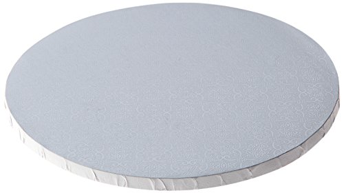 W PACKAGING WPDRM8W 1/2″ Thick, Round Cake Drum, Corrugated with Coated Embossed Foil, Covers Top and Sides, 8″, White (Pack of 12)