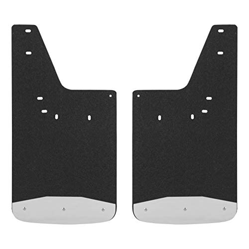 LUVERNE 250932 Front 12 x 23-Inch Textured Rubber Mud Guards Black Inch Inch Select, 2500, 3500, 4500, 5500, Dodge Ram 1500