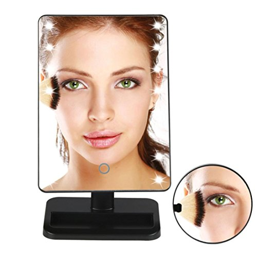Reflections Bedroom Vanity (LED Makeup Mirror ,Tuscom@ 10X Magnifie Lighted Makeup Mirror 20 LED Touch Screen Cosmetic Vanity Mirror (Black))
