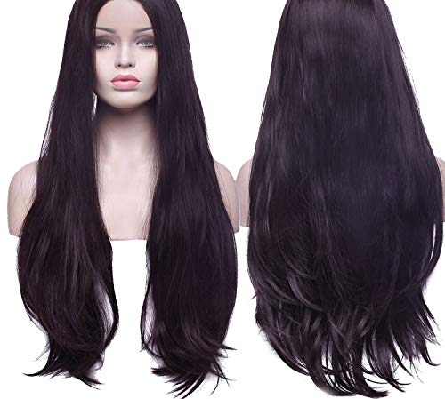 Amazon.com : Lace Front Synthetic Wigs Long Body Wave Hair Plucked Wig with Baby Hair, 786, 150%, Lace, 26inches, C : Beauty