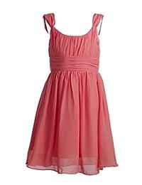 Fashion Plaza Girl's Short Sleeve Chiffon Bridesmaid Flower Girl Dress K0117