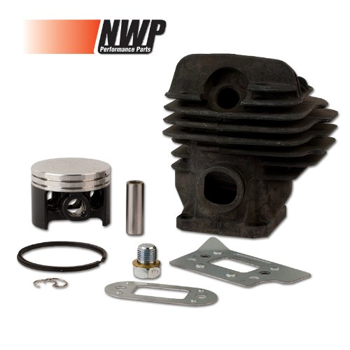 (NWP Piston & Cylinder Assembly (44.7mm) for Stihl MS 260 Chainsaws (Replaces 1121 020 1217))