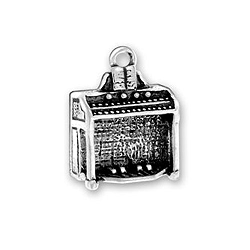 Sterling Silver 3D Musical Instrument Church Organ Charm Item #221