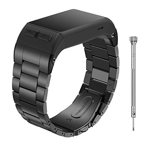 NotoCity Vivoactive HR Strap, Stainless Steel Replacement Watch Band ONLY Compatible Vivoactive HR Sports GPS Smart Watch with Adapter Tools