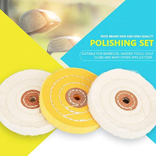 Polishing Pads Set, 7Pcs Hard Metal Scratch Removal Buffing Polishing Pads Set Polisher Tool Kit by Greensen (Image #2)