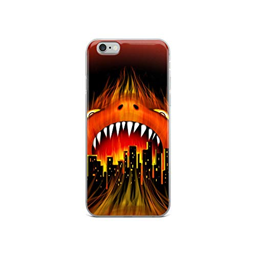 Skull Head City Stick - iPhone 6/6s Case Anti-Scratch Phantasy Imagination Transparent Cases Cover Monster City Fire Beast Fantasy Dream Crystal Clear