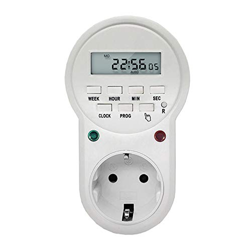 Timer - 220v 50hz 16a 3600w Eu Us Uk Plug Timer Switch Socket Digital Lcd Power Energy Saving Programmable - Remote Safe Teeth Outdoor Locked Timers Hand Pins Pocket Stake Programmable Interval
