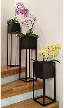 Schwarz, 50 Alplast Blumenst/änder Blumenkasten Pflanzenkasten Pflanzkasten Blumentopfhalter Pflanzkasten Pflanzenst/änder aus Metall