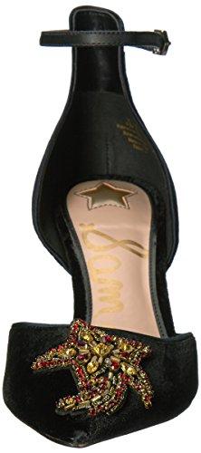 Luna Caviglia F2274m1001 Velluto Tacco Sam Stella Scarpa Edelman Black Donna Nero Cinturino Perline wAw0IO7q