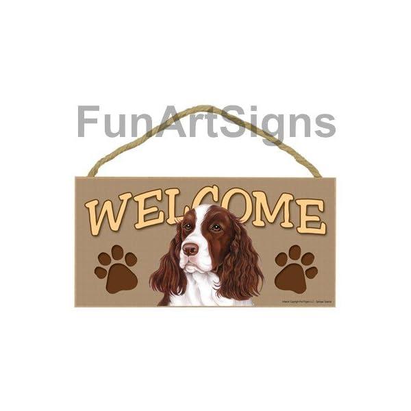 Springer Spaniel Welcome Sign - Wooden Sign 1