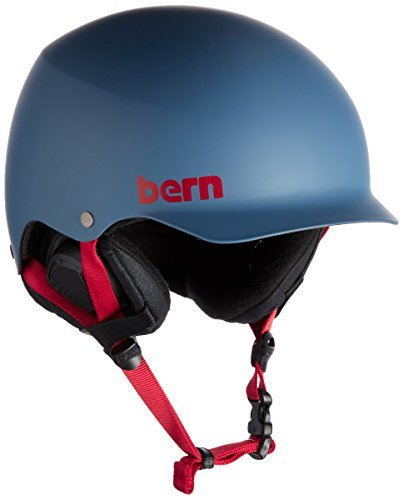 Bern Men's Baker Hatsyle Winter Helmet With EPS Foam And Liner - Matte Steel Blue/Black, Large/X-Large by (Bern Baker Matte)