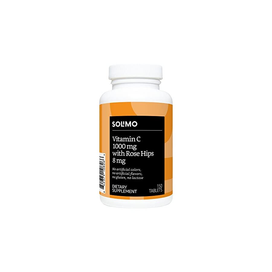 Amazon Brand Solimo Vitamin C 1000mg with Rose Hips 8mg