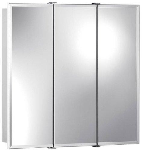Jensen 75528030 Ashland Frameless Oversize Medicine Cabinet, Classic White, 24-Inch by 4-3/4-Inch by Jensen