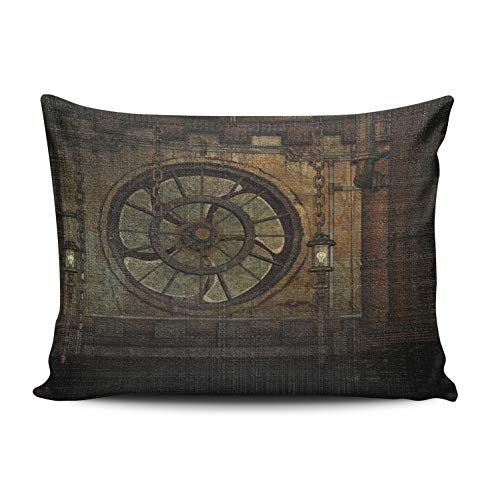 MUKPU Vintage Antique Steampunk Mojo Home Decor Sofa Pillowcase 12X20 Inch Lumbar Throw Pillow Case Hidden Zipper Single-Sided Printed -