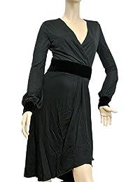 Womens Black Runway Shiny Jersey Without Belt Viscose Medium Dress 304532. Gucci