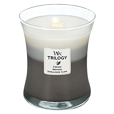 Woodwick Candle Warm Woods Trilogy Medium Jar