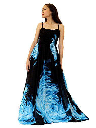 MayriDress Women's Floral Maxi Dress Plus Size Clothing Long Casual Black 1X
