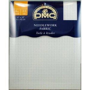 DMC Stoffe Aida 2.5/cm -Naturfarben- 100% Baumwolle - 35 x 45cm
