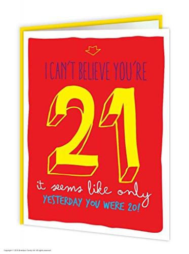 Brainbox Candy Funny Humorous '21St Birthday' Greetings Card
