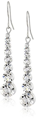 Neoglory Fashion Rhinestone Drop Earrings Ear Wear Jewelry Wholesale White Color Chirstmas Gifts