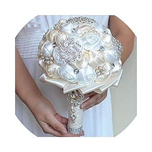 Jane Love White Ivory Brooch Bouquet Wedding Bouquet Wedding Bouquets Pearl Flowers Buque 83