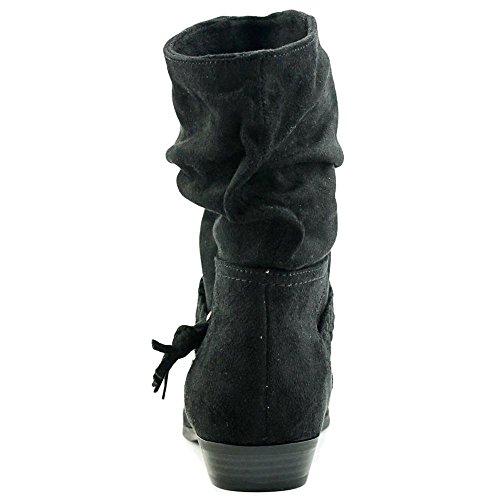 Indigo Rd. Dames Jalena Gesloten Teen Mid-calf Mode Laarzen Zwart
