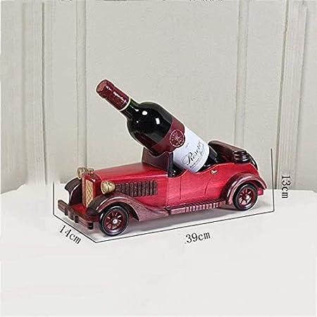 DDLN Creatividad Modelo de Coche clásico Retro Estante de Vino de Madera, Estante de Botella de Vino Soporte de exhibición Adornos de gabinete de Vino para Regalos de decoración del hogar