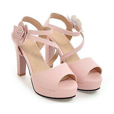 Talons Chaussures Confort Décontracté Polyuréthane Lvyuan Blanc Beige Printemps ggx À Rose Plat Femme wInqU4