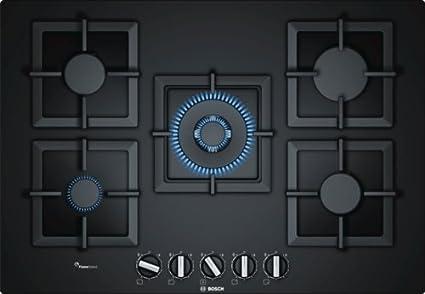 Bosch Piano cottura a gas PPQ7A6B20 in vetro nero da 75cm: Amazon.it ...