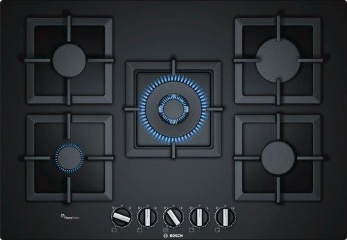 Bosch - Piano cottura a gas PPQ7A6B20 in vetro nero da 75cm: Amazon ...
