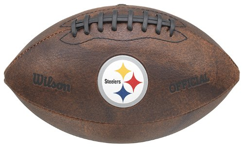 NFL Pittsburgh Steelers Color Logo Football , 9-Inches