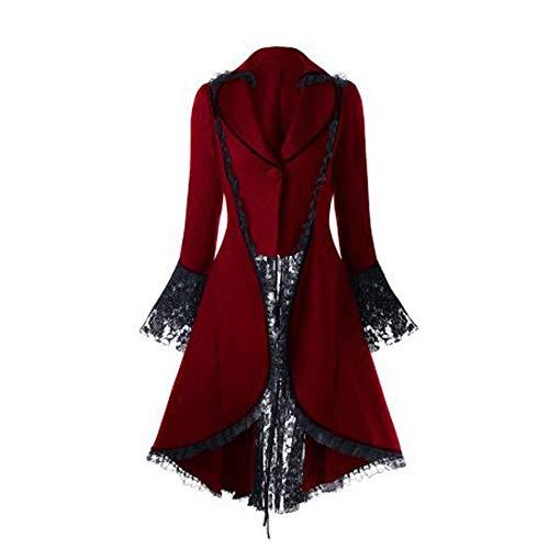 M Long Zjewh Manteau Noir Rouge Pour Longues À Femmes Manches D'hiver Lacets TPwC5qHwx