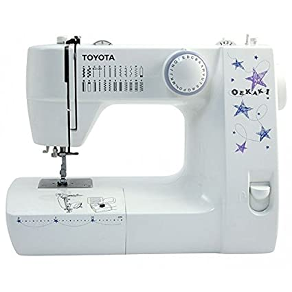 Toyota OEKAKI Eléctrico - Máquina de coser (Blanco, Bordado, Overlock, Costura, Paso 4, 5 mm, 800 RPM, 5 mm): Amazon.es: Hogar