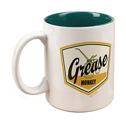 Wheeler Dealers Grease Monkey Mug - White/Green (Channel Coffee Cup compare prices)