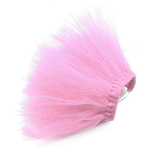 Dog Princess Costumes (Bettal Pet Puppy Small Dog Lace Skirt Princess Tutu Dress Clothes Apparel Costume Cute (S, Pink))
