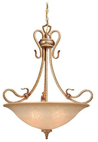Vaxcel USA BEPDU260CA Berkeley 4 Light Foyer Pendant Lighting Fixture in Brass, Glass