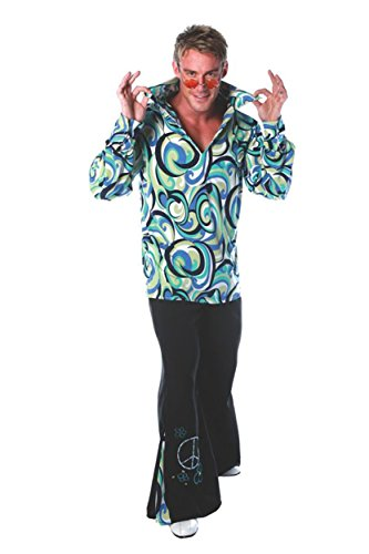 UHC Men's Retro 1970's Swinger Outfit Disco Theme Party Adult Fancy Costume, OS (42-46) - Disco Theme Party Outfits